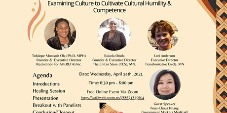 Examining Culture to Cultivate Cultural Humility & Competence tickets
