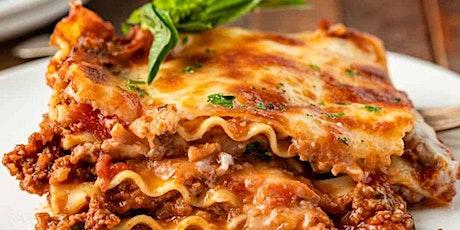 FREE Virtual Cooking Class: Lasagna tickets