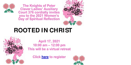 """WOMEN DAY OF SPIRITUAL REFLECTION- """"ROOTED IN CHRIST"""" boletos"""