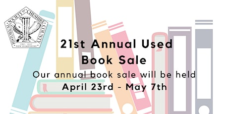 Used Book Sale 2021  -exclusive entry opportunity tickets