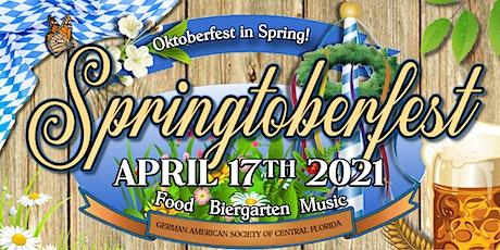 """Oktoberfest in April """"Springtoberfest"""" 2021 tickets"""
