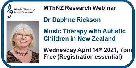 Webinar:  Music Therapy with Autistic Children in New Zealand tickets