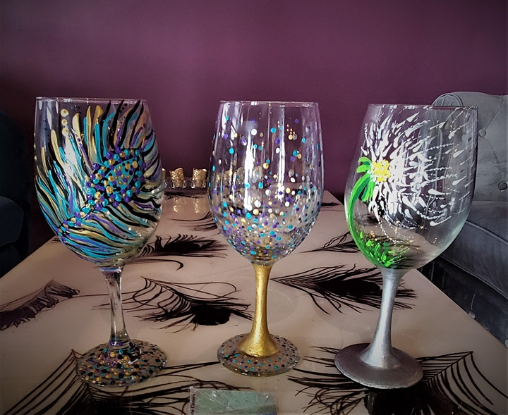 Wine Glass Painting at Peacock Wine Bar image