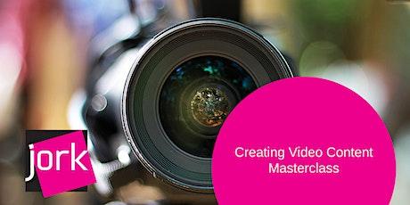 Creating Video Content Masterclass (webinar) tickets
