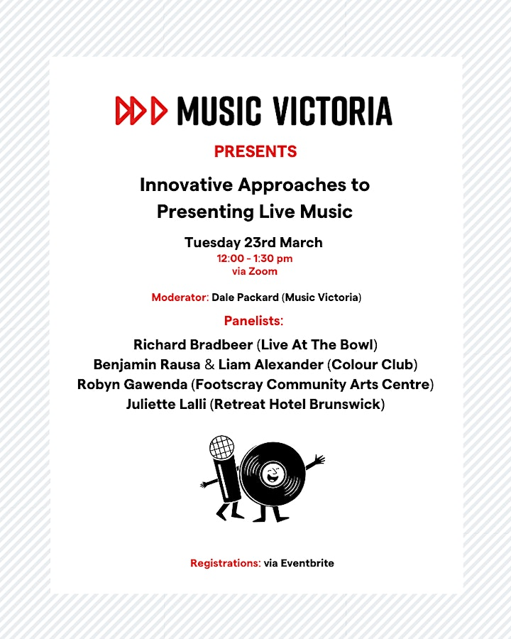 Music Victoria Presents: Innovative Approaches to Presenting Live Music image