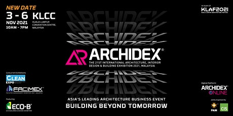 ARCHIDEX 2021 – International Architecture, Interior Design & Building Expo tickets