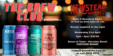 Brew Club featuring Newstead Brewing Co. tickets