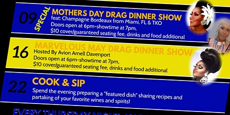 Sunday, May 16th 7pm DRAG Dinner Show tickets