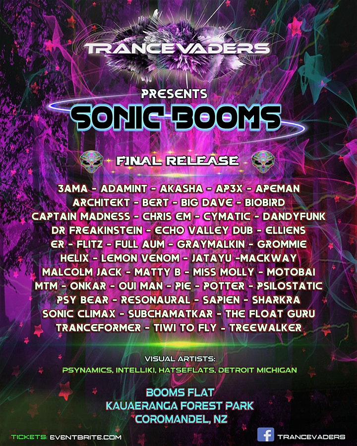 TRANCEVADERS presents SONIC BOOMS image
