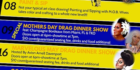Mother's Day Drag Dinner Show, May 9th 7pm DRAG Dinner Show tickets