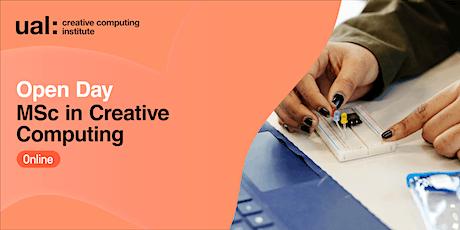 CCI Open Day: MSc Creative Computing tickets