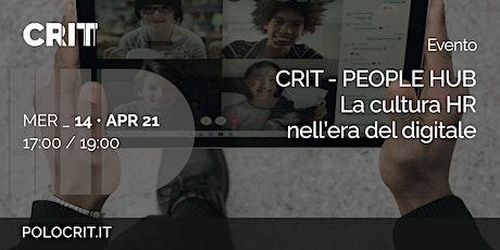 Presentazione CRIT People Hub biglietti