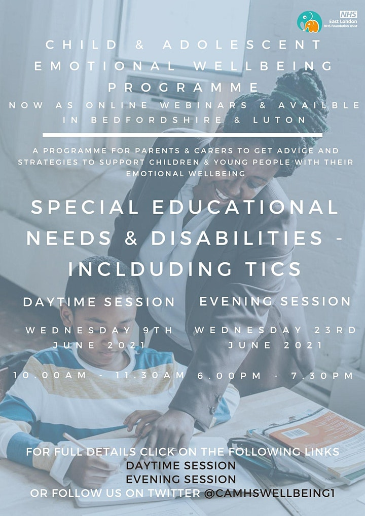 Special Educational Needs & Disabilities (SEND) including Tics (AM session) image