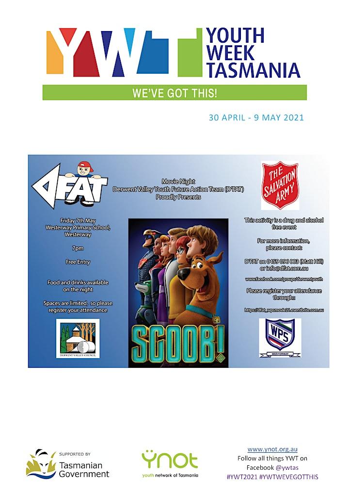 D'FAT Youth Week Tasmania 2021 - May Movie Night image