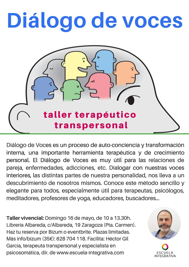 Imagen de Diálogo de voces - taller terapéutico  y transpersonal