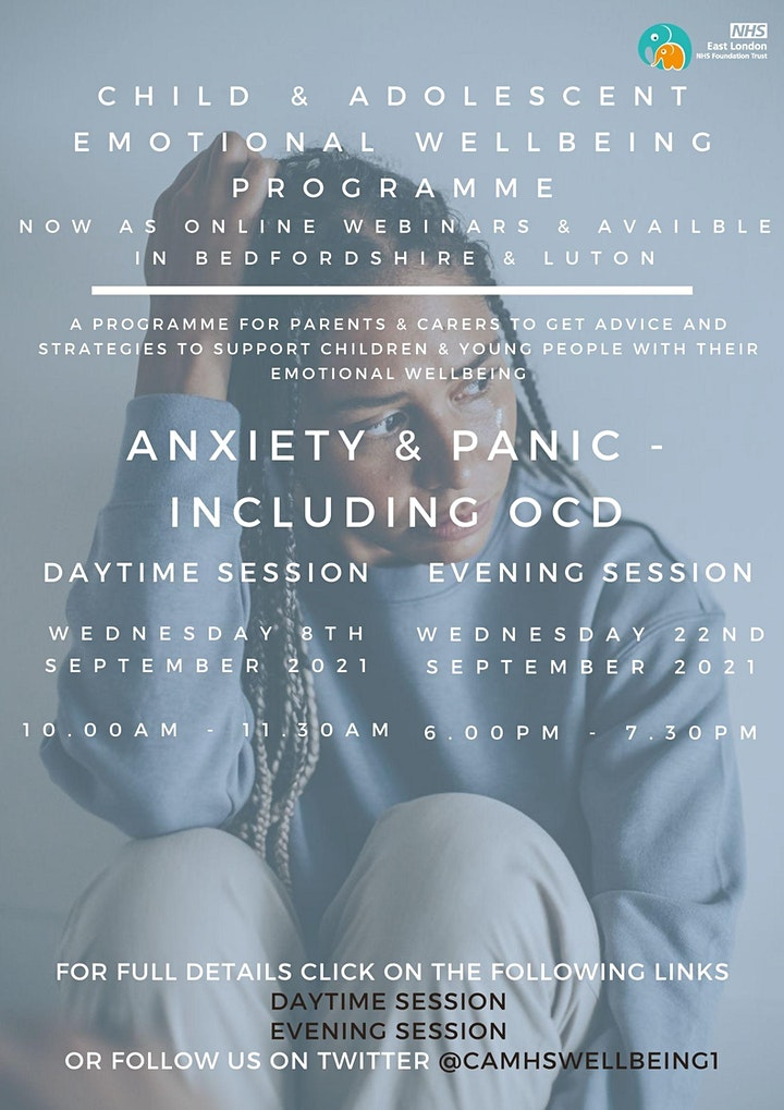 Anxiety & Panic - Including OCD (PM session) image
