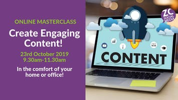 Content Creation and Planning Masterclass (Online)