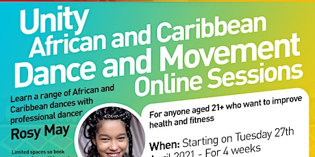 Unity Project - African and Caribbean Dance Online Sessions tickets