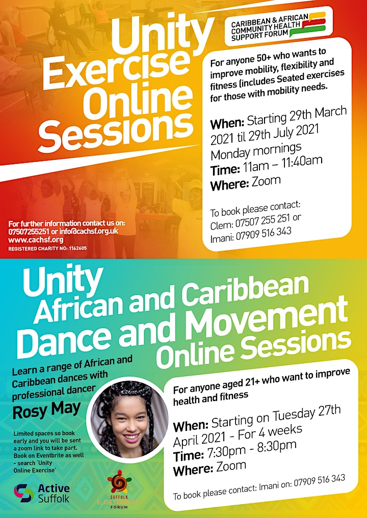 Unity Project - African and Caribbean Dance Online Sessions image