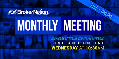 BrokerNation Monthly Meeting - April 2021 - Live + Zoom tickets