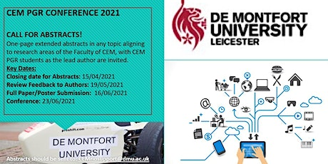 DMU Faculty of Computing, Engineering and Media:  PGR Conference 2021 tickets