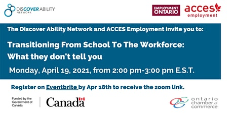 ACCES Employment - Transitions into the workforce: what they don't tell you tickets