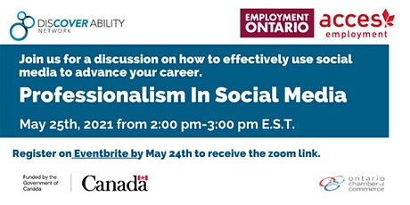 ACCES Employment and Discover Ability: Professionalism in Social Media tickets