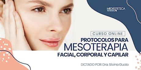 Curso de Protocolos para Mesoterapia facial, corporal y capilar entradas