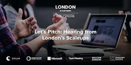 Let's Pitch: Hearing from London's Scaleups tickets