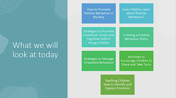 Promoting Positive Behaviour in Early Years Settings - EYFS CPD image
