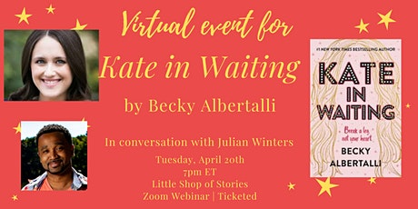 Becky Albertalli Virtual Launch Event for KATE IN WAITING! tickets