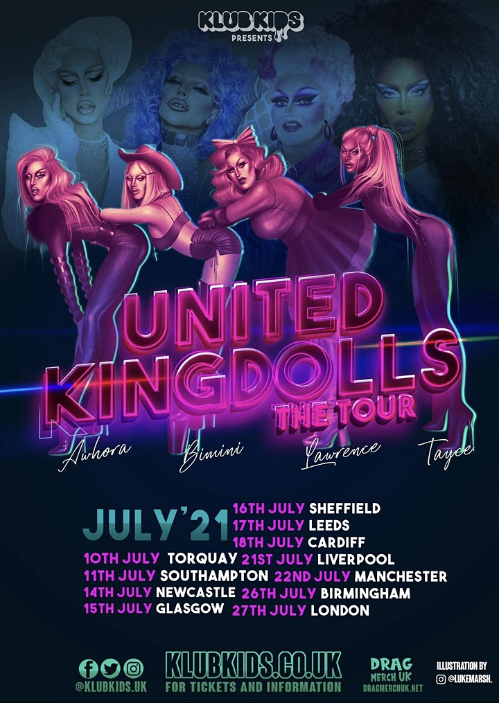 Klub Kids Sheffield Presents: THE UNITED KINGDOLLS -  The Tour  (Ages 14+) image
