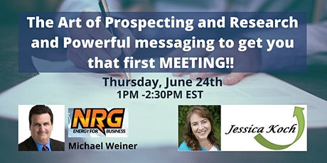 The Art of Prospecting & Research & Powerful messaging! ingressos
