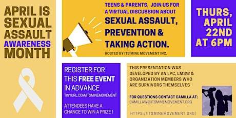 Sexual Assault Awareness: Prevention is Possible Discussion tickets