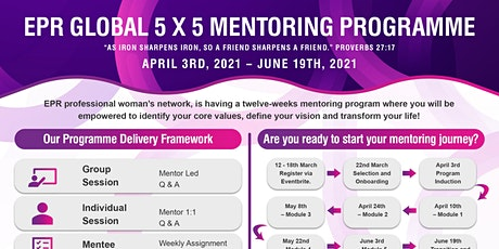 EPR  Global 5x5 mentoring programme tickets