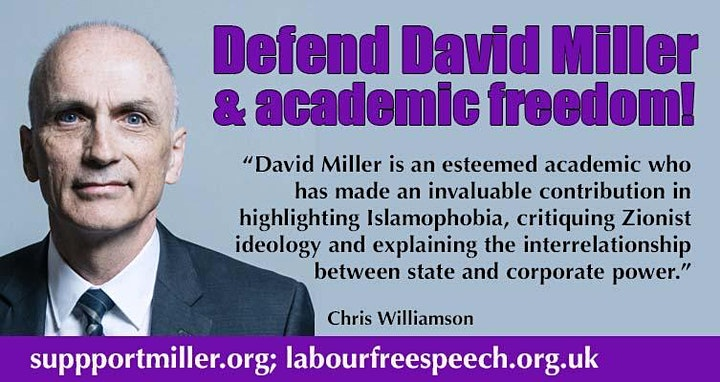 Defend David Miller- Defend Academic Freedom II image