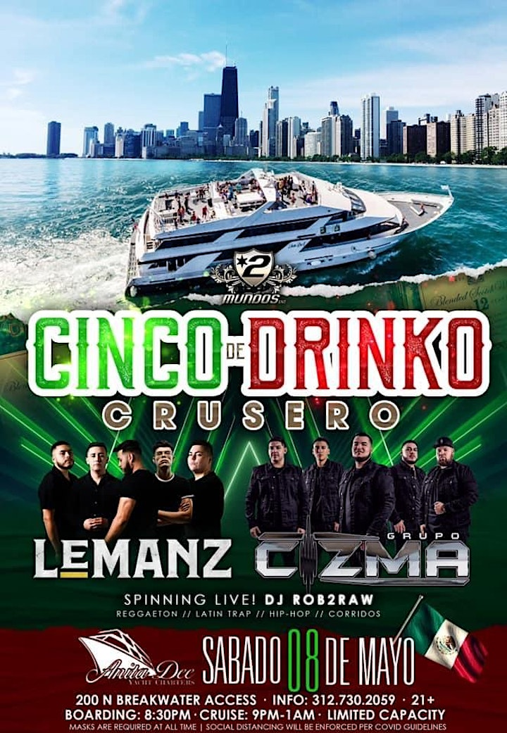 Cinco De Drinko (Banda Yacht Party) image