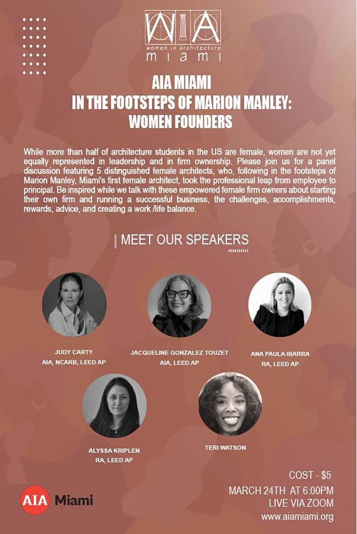 In the Footsteps of Marion Manley: Women Founders image