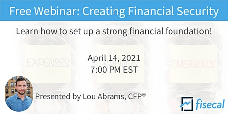 Free Webinar: Creating Financial Security tickets