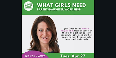 What Girls Need - Parent/Daughter Workshop tickets