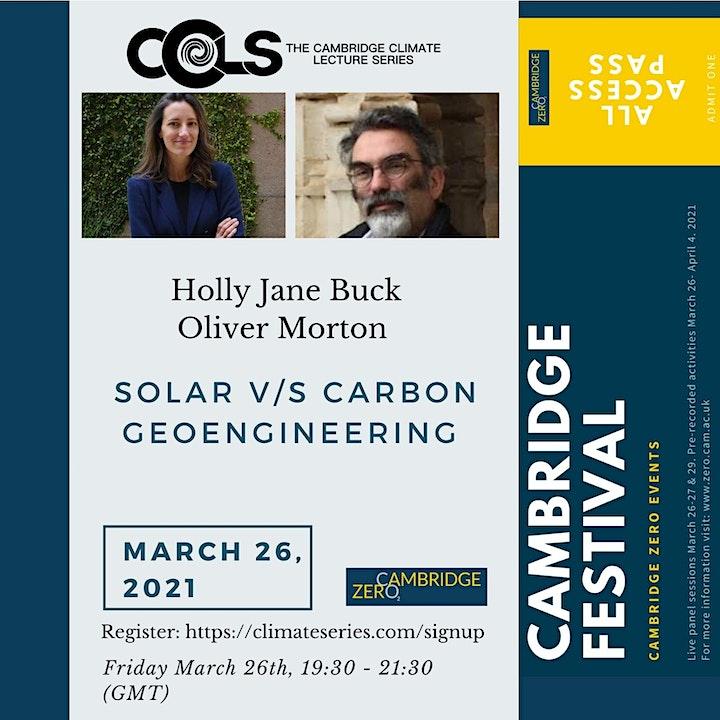 CCLS & Cambridge Zero: A conversation  with Holly J Buck & Oliver Morton image