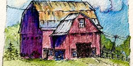 10a-12 Painting Barns in Watercolor & Ink with Jean Anderson Zoom Class tickets