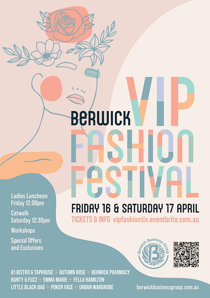 Berwick VIP Fashion Festival Events & Workshops image