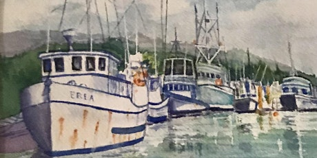 10a-12 Watercolor Boats Jean Anderson Zoom Class tickets