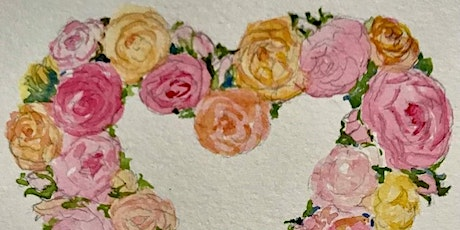 10a-12 Rose Wreath in Watercolor Jean Anderson Zoom Class tickets