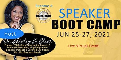 Speaker Boot Camp tickets