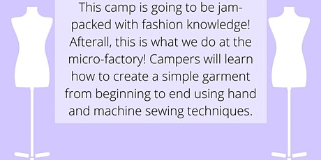 Fashion Camp- June (ages 7-12) tickets