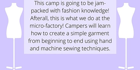 Fashion Camp- June (ages 13-18) tickets