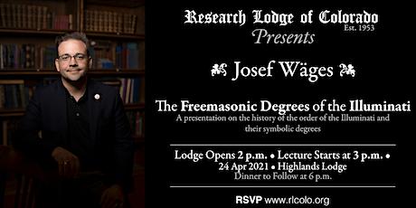 Josef Wages on the Freemasonic Degrees of the Illuminati tickets