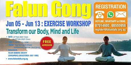 9-Day Falun Gong Exercise Workshop tickets
